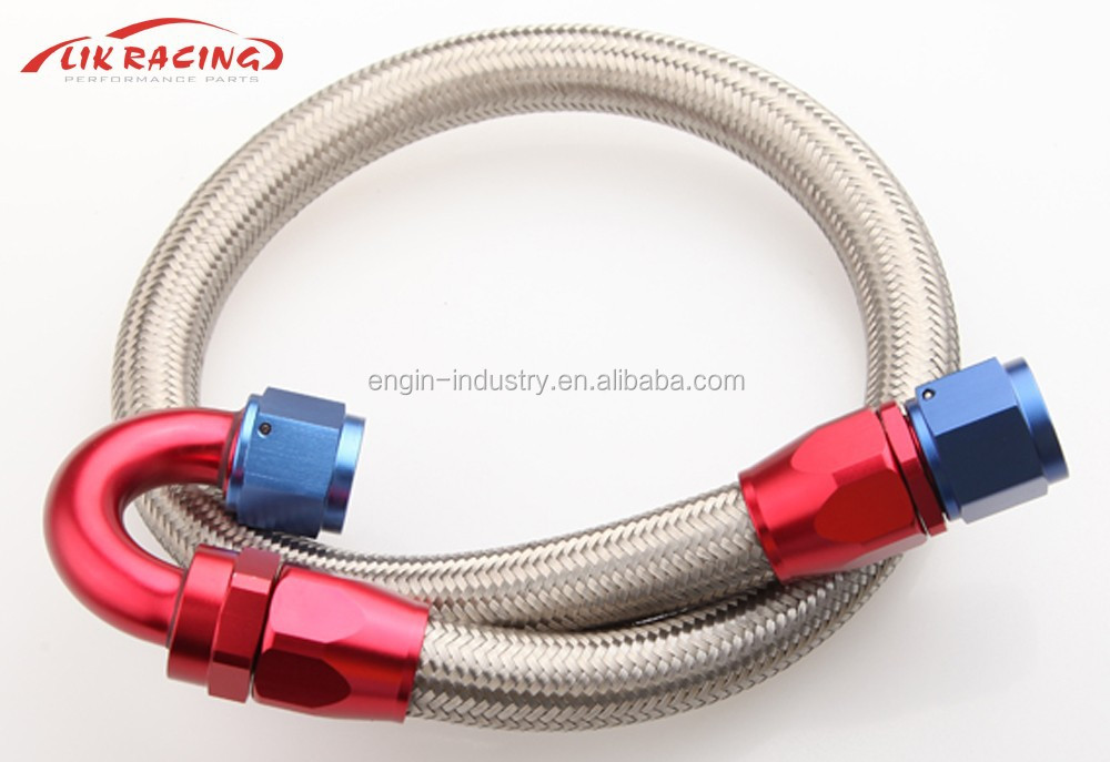 20 AN Braided Stainless Steel Fuel Line Hose 1500 PSI