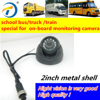 Security Dome Camera 1 / 4 CMOS Inside Bus Camera Applied with Mobile DVR in Vehicle CCTV Camera Surveillance