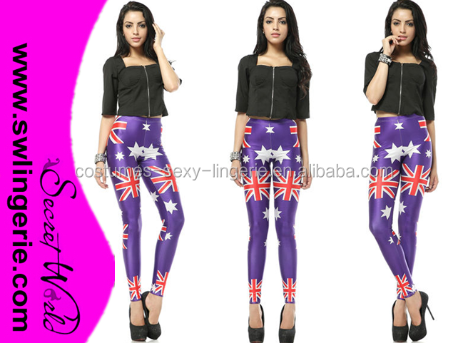 2015 New Australia Flag Purple Pants the Old Glory LEGGINGS
