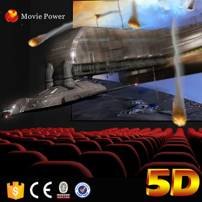 Large Outdoor Playground Equipment 5d Cinema For Shooping Mall