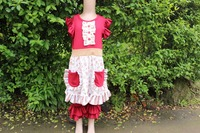 Low MOQ Baby Girl Clothes Set Baby Clothes Wholesale Price crimson color clothing
