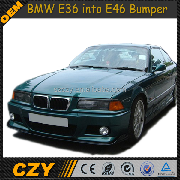 E46 Style E36 Bumper FRP Front Lip for BMW E36