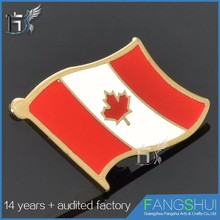 Most worthy souvenir canada red maple leaf lapel pins cheap wholesale