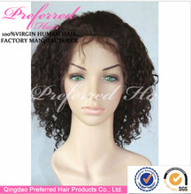 Fashion Style Amazing High Temperature Lace Front Wigs Curly #2 Human Hair Wig For Black Women