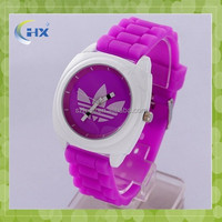 Custom designed dial colorful watch wrist watch silicone wrist watch