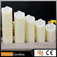 led candle bulb paraffin wax candle price for color changing candle