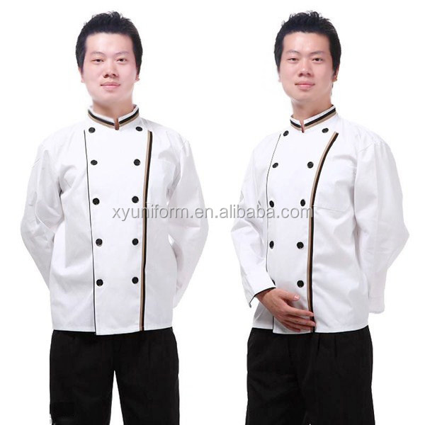 japanese style long sleeve high quality professional chef uniform