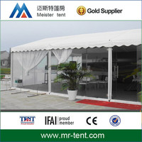 Clear wall pvc fabric roof party tent with curtains