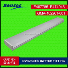 SAA approved 2X36W T8 batten fitting Prismatic batten fitting Surface T8 holder T8 bracket Emergency batten T8 LED Fitting