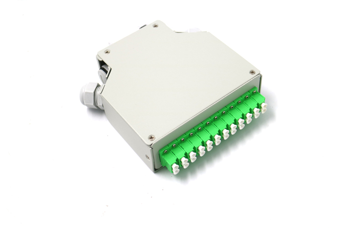 12 Core LC APC Duplex DIN Rail Fiber Optical Fiber Terminal Box