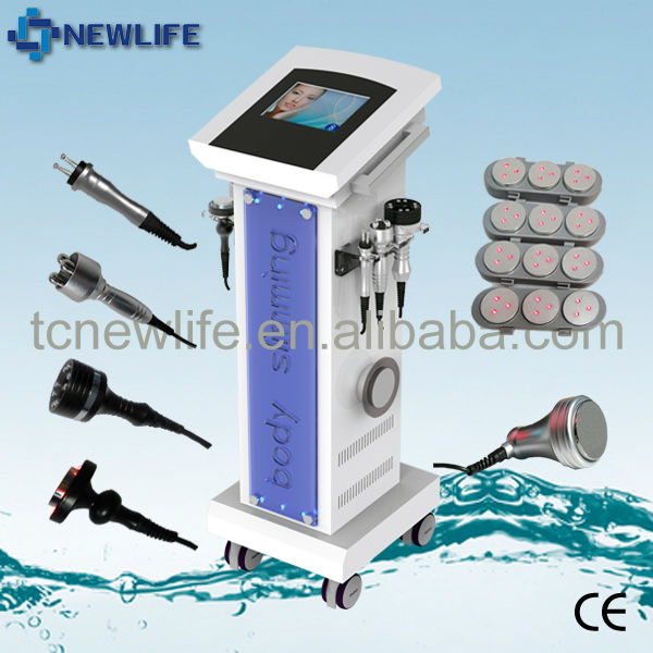 New 6 in 1 Liposuction ultrasonic Vacuum Bipolar Cavitation RF Laser Slimming Machine 2015 New product
