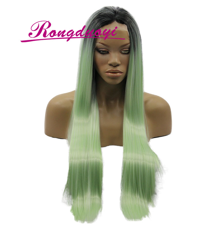 OEM All Kinds of Popular Silk Straight Lace Front Silk Top Synthetic Wig