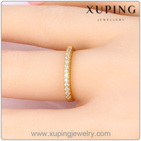 Xuping 24k Gold Jewelry Diamond Ring Designs For Women Party Needs