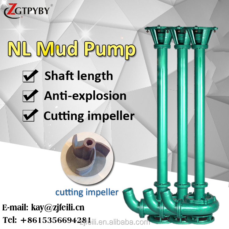 nl vertical mud pump slurry sucker pump heavy duty mud pump