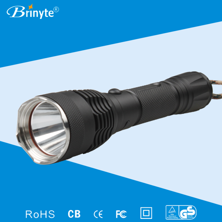 Brinyte USB charging tactical led police flashlight
