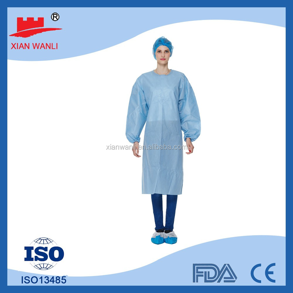 Disposable High Stantard Chemical Against Reinforced Surgical Gown