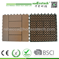 Outdoor Usage and sanding Surface Treatment Hote sales wpc deck tile/wood composite floor tile