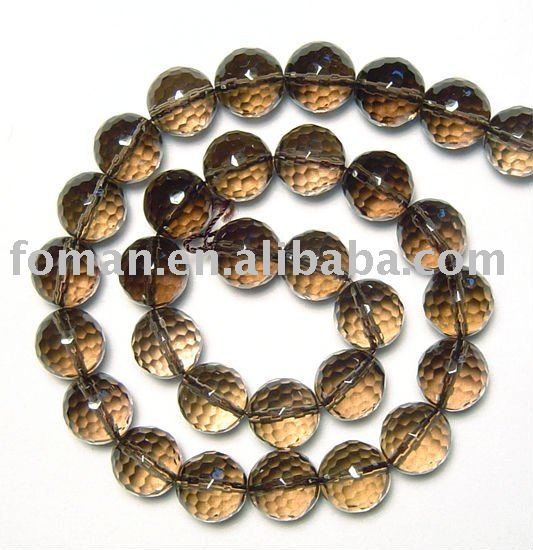 10mm round loose gemstone faceted smoky quartz beads kinds of precious stones