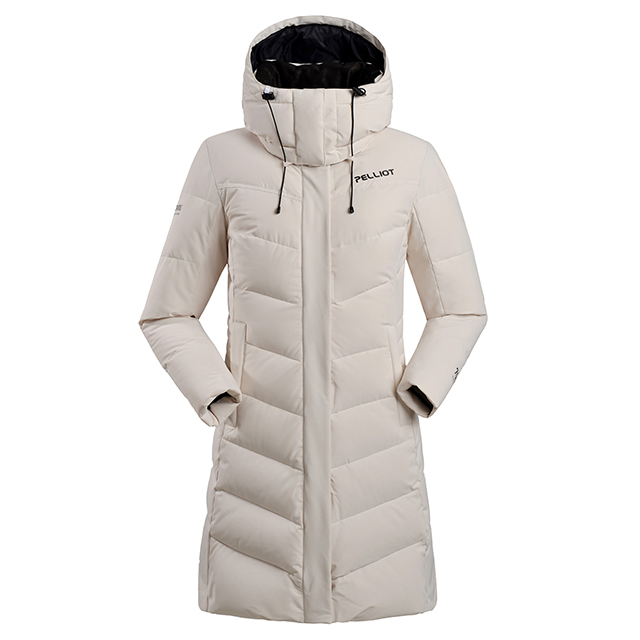 Women long style outdoor warm duck down jacket custom professional logo