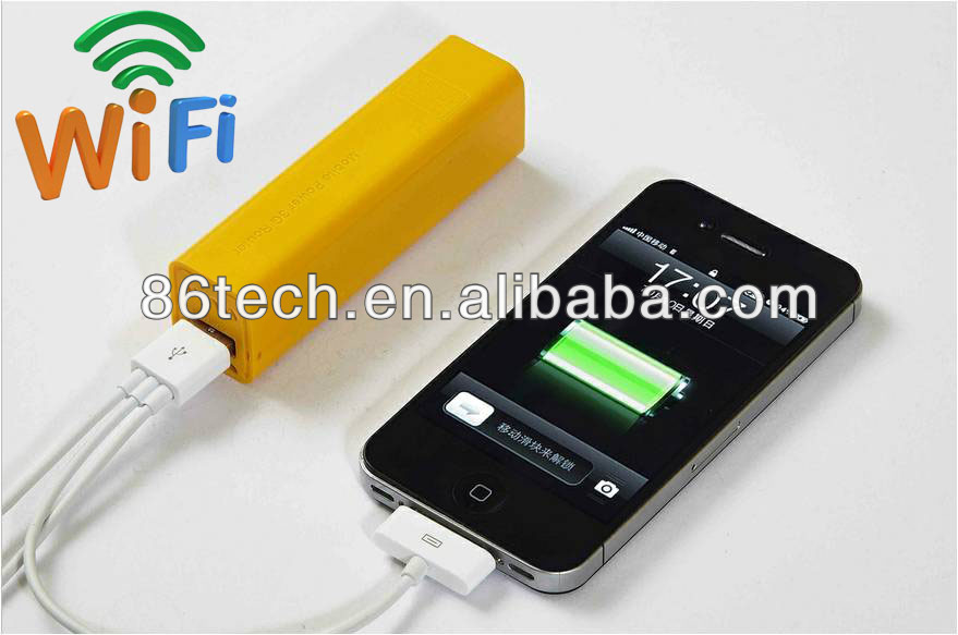 New Style Emergency Charger for Samsung Galaxy Note 2200mAh Portable Power Bank with WIFI Router Power Charger for Iphone
