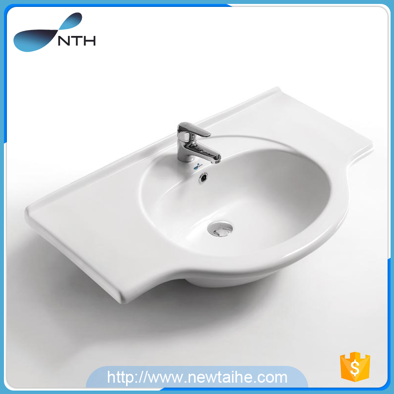NTH custom ceramic round inset antique bathroom cabinet wash basin