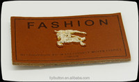 high end garment metal leather label for jeans, real leather and fake leather