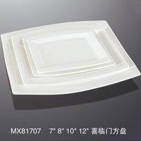 MX81707 wholesale cheap plain ceramic rectangular white dinner plate
