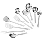 Kitchen utensils stainless steel kitchenware 6 pieces set spatula spoon cookware set