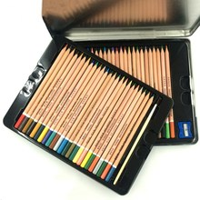 "7"" Top Coated Natural Wood 48 Colors Professional Water-soluble Colour Pencils"