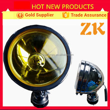 5 inch 7 inch 12v yellow round marine hid lights led headlight