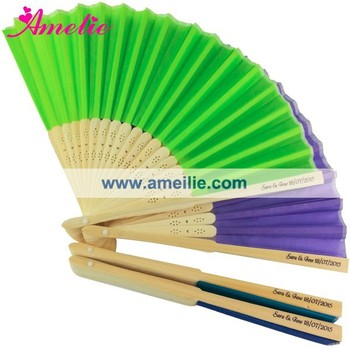 Amelie Customized Silk Hand Fan Wedding