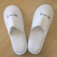 Wholesale Hotel Apartments Disposable Logo Slippers