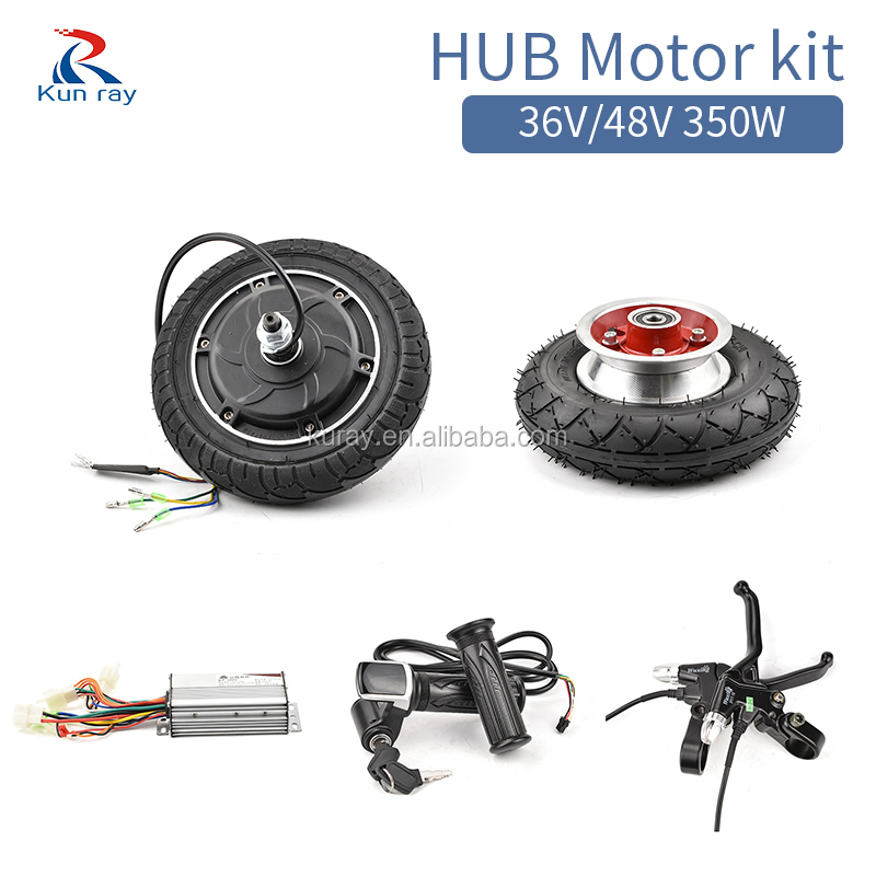 24V 36V 48V 350W E-Scooter Wheel Brushless Toothless Hub Motor Electric Scooter Conversion Kit