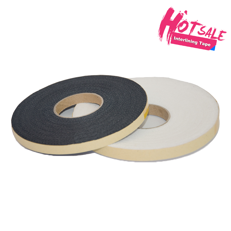 100% polyester woven garment fusible interlining tape fabric for overcoat suit
