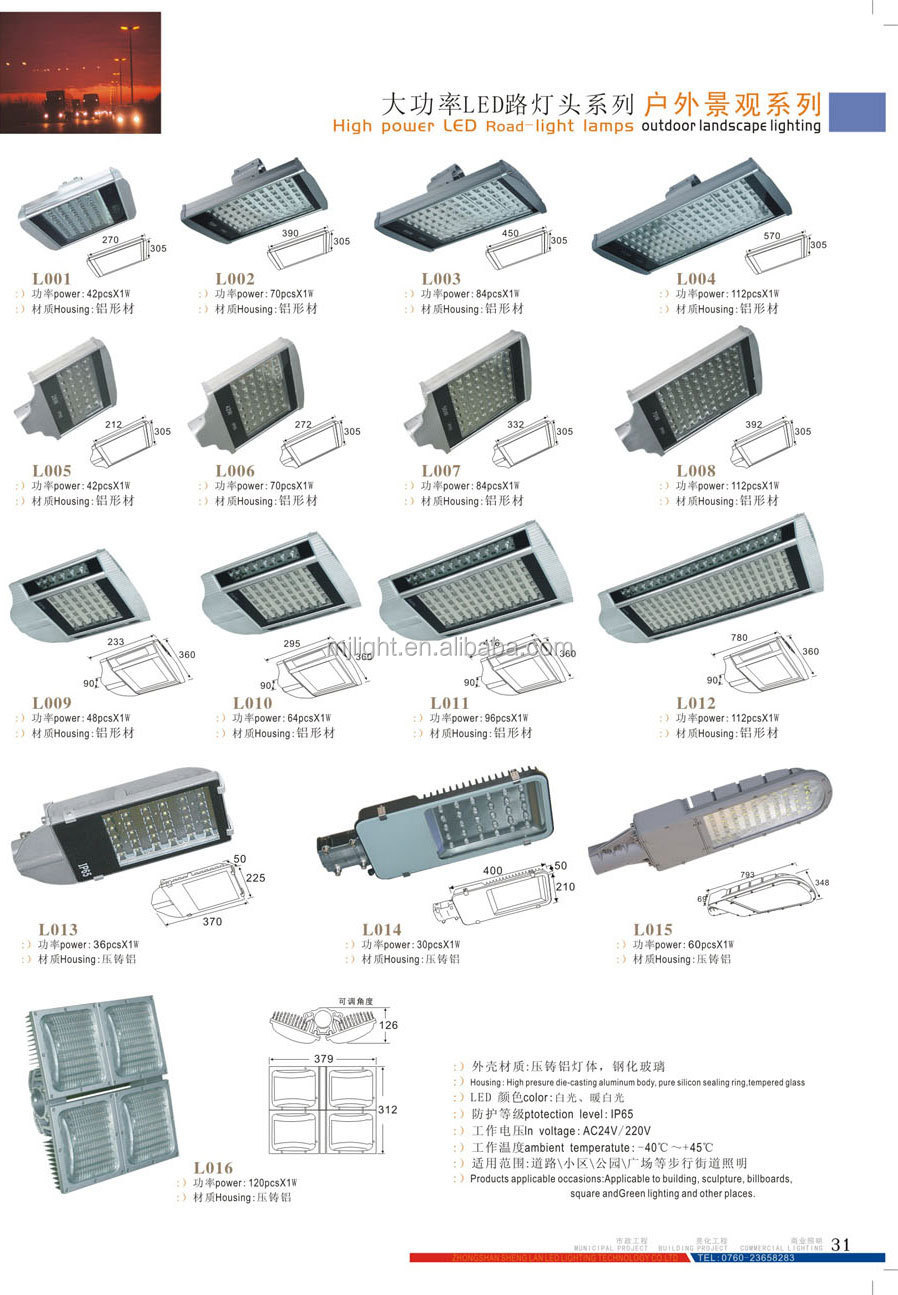 Hot selling US markets led street light DLC&UL&CUL&CE listed