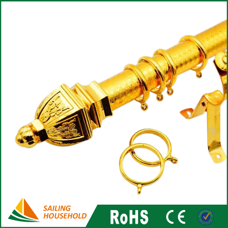 Manufacturer supplied folding curtain rod, decorative drapery rod, curtain accessories