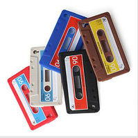 Laudtec For iPhone 4 4G 4S Soft Silicone Cassette Case for iPhone 4 Retro Vintage Tape
