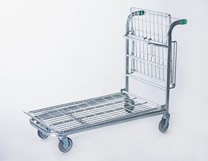 Wholesale folding wire hand warehouse shopping trolley cart for sale