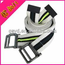Custom Cotton Striped Mens Knitted Canvas Belts Wholesale