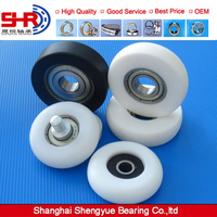 White black yellow color coated plastic track roller bearing price