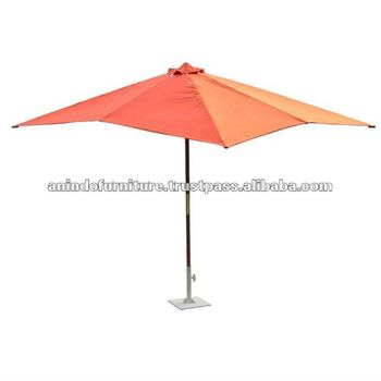 Teak Garden Furniture - Rectangular Parasol 2.5 X 3.5 M