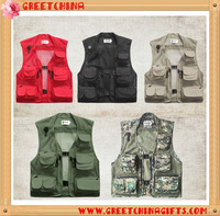 Workwear Summer Mesh Mens Fishing Hunting Vest Multi Pocket