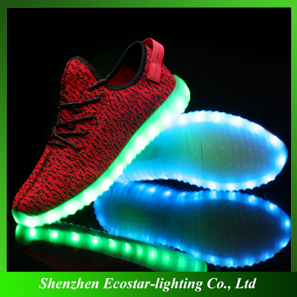 Popular LED Flashing Sneakers/LED Flashing Casual Sneakers for Women