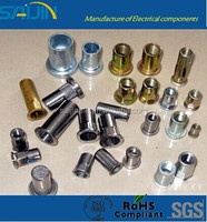 Steel Flat Head Countersunk Rivet Nut plating colour Zinc
