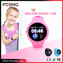 2017 toplinas new childrens GPS SOS wifi LBS tracker watch mobile phone use for all of the world kids