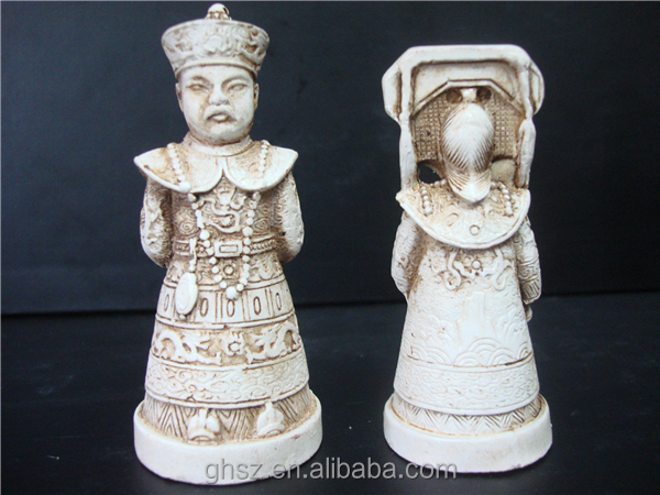 Ancient Chinese characters plastic chess set