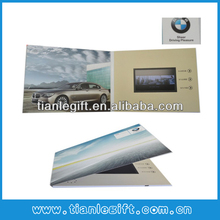 Factory supply TFT LCD screen video business card with customized design