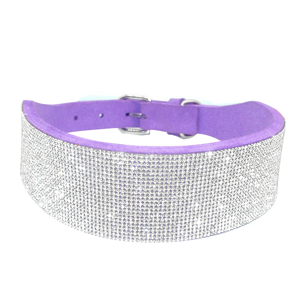 Berry Pet Bling Dog Collar with Rhinestone