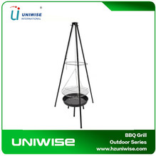 Tripod Hanging BBQ Grill with Adjustable Height for Backyard and Sandbeach