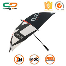 High quality customed photo print automatic open golf umbrellas